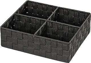 Wenko 20984100 Adria Panier pour Salle de Bain Quadro Noir 32 x 27 x 10 cm