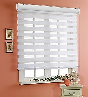 サイズ オーダーメイド, [Winsharp Basic, white, W 110 x H 150 (CM)] 調光ロールアップ スクリーン 窓 プリーツ ブラインド & カーテン 簾