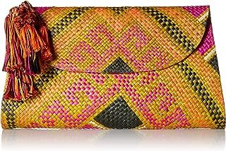 Natori Women's Woven Clutch, multi weave, O/S