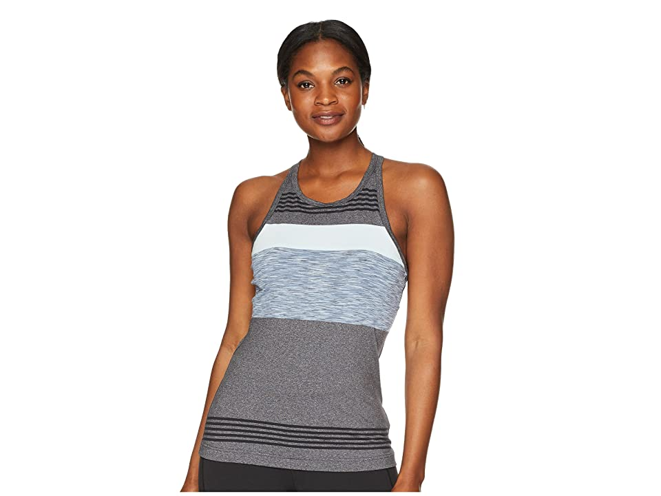 Prana Alois Top (Charcoal Heather Stripe) Women