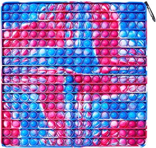 256 Bubbles Big Pop Pop Fidget It Toy-Jumbo Push Bubble Popping Autism اسباب بازی های حسی اسباب بازی های رنگارنگ کراوات پوپیتز غول پیکر بزرگ سایز بزرگ Popper Fidget Pack استرس برای کودکان پسران دختران بزرگسال