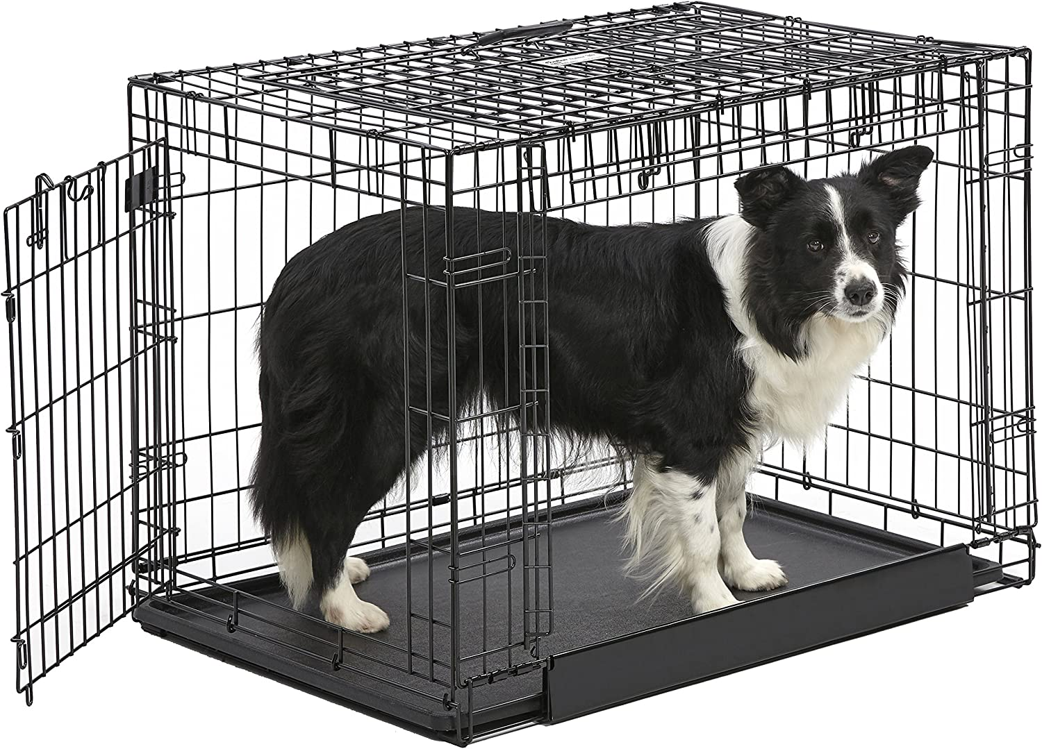 Midwest Homes for Pets Ovation Double Door Dog Crate, 36Inch