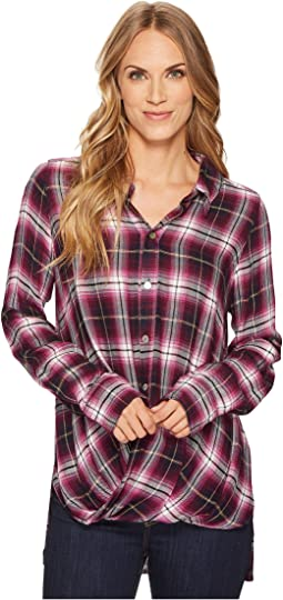 Thistle Long Sleeve Twist Hem Shirt