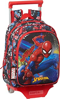 Mochila Infantil de SpiderMan Go Hero con Carro 705, 270x100x330mm