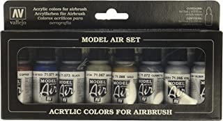 Vallejo Model Air Metallic Colors Acrylic Paint Set for Air Brush - Assorted Colours (Pack of 8)