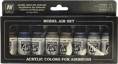 Vallejo 71176 Model Air Metallic Colors 8 Colour Acrylic Airbrush Paint Set