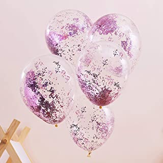 Ginger Ray Pamper Party Pink Glitter Filled Balloons