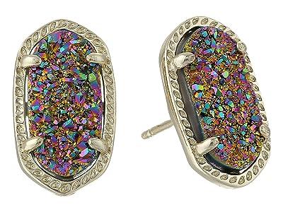 Kendra Scott Ellie Earring (Gold Multi Color Drusy) Earring