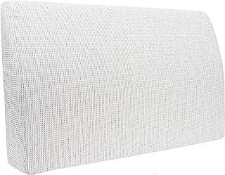 Formalind Respaldo para cama y sofá 70 X 45 X 15 CM//Cojines traseros para ver televisión y leer en diseño fino hecho de tela fina de tapicería (blanco)