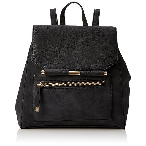 9aac21499f New Look Womens Eleanor Metal Bar Backpack Grey (Dark Grey)