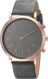 Skagen Hald Rose Gold Stainless Steel & Leather Hybrid Smartwatch SKT1207