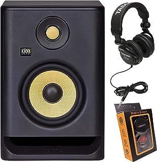 "KRK RP5 Rokit 5 G4 Professional Bi-Amp 5"" Powered Studio Monitor + TH02 Headphone + Magnet Phone Holder"