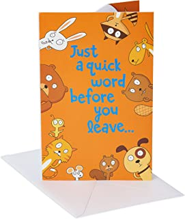American Greetings Funny Goodbye Card (Animals, Don't Leave)