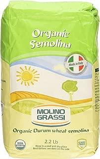 Molino Grassi USDA Organic Durum Wheat Semolina Flour, 2.2 lbs