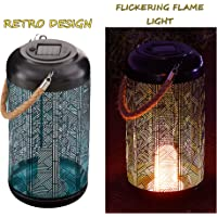 Kircust Outdoor Hanging Solar Lantern Lights with Hollowed-Out Design