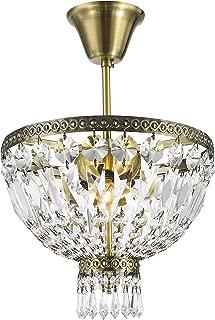 Worldwide Lighting W33087B12 Metropolitan 3 Light Flush Mount Ceiling Light, Antique Bronze Finish Crystal, Round Small Fixture, 12