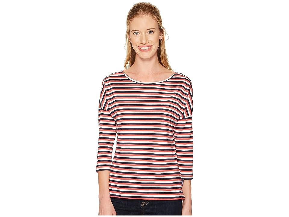 Columbia Harborside 3/4 Sleeve Shirt (Collegiate Navy Stripe) Women