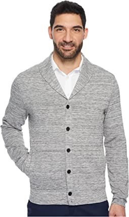 Perry Ellis Button Down Heathered Shawl Cardigan