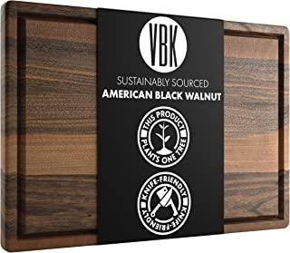 Virginia Boys Kitchens - Made in USA - Extra Large Walnut Wood Cutting Board - Brisket and Turkey Carving Board - Reversib...