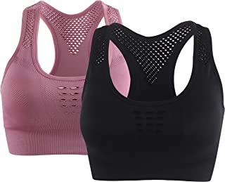 Sport Bras for Women Breathable Seamless Workout Racerback Sport Yoga Bra Tops