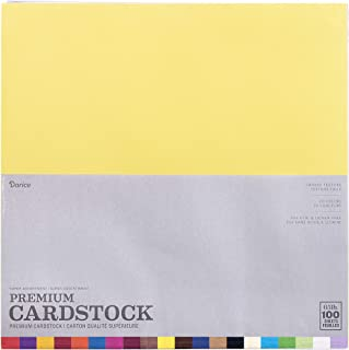 Darice Core'dinations Premium 65-lb Cardstock Value Pack party supplies, Multicolor