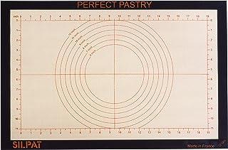 Silpat ADNS 585385 TBC Perfect Tapis à pâtisserie en silicone, gris, beige