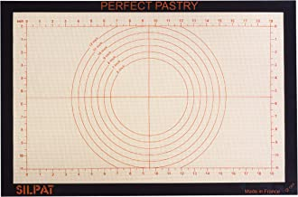 """Silpat Perfect Pastry Non-Stick Silicone Countertop Workstation Mat, 15-1/8"""" x 23"""""""
