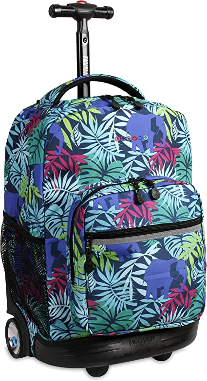 Amazon.com   J World New York Sunrise Rolling Backpack Backpack, SAVANNA   Kids' Backpacks