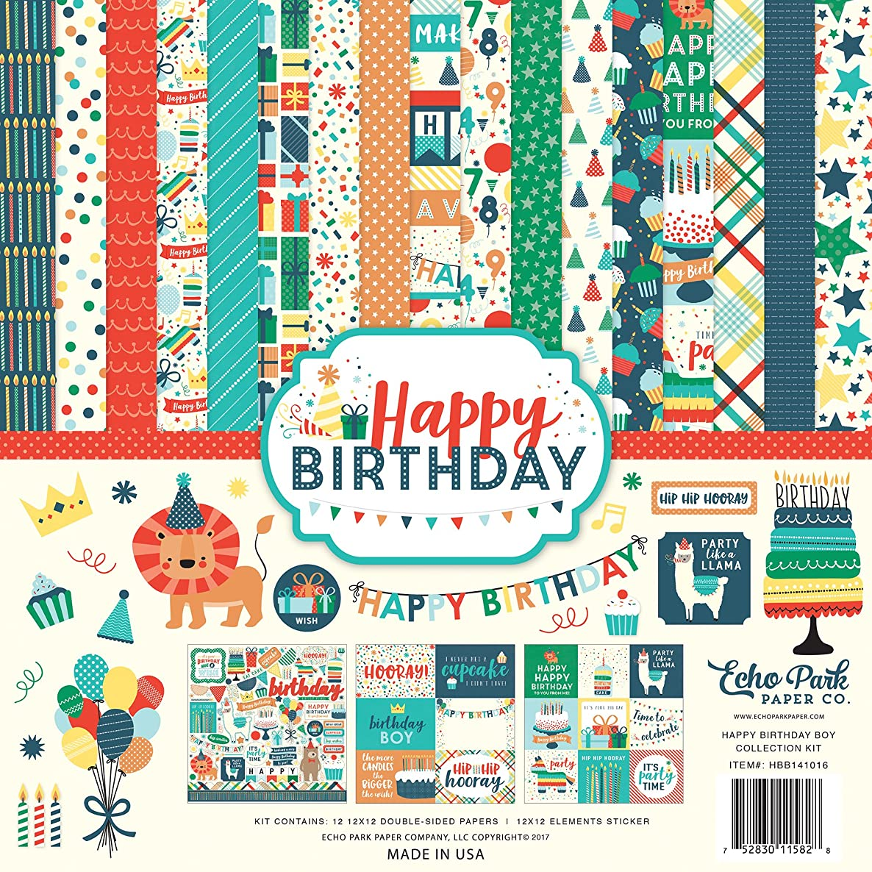 Echo Park Paper Company Happy Birthday Boy Collection Kit