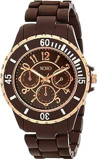 XOXO Women's XO5576 Brown Rubber Coated Bracelet Watch