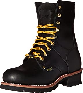 """Adtec 9"""" Super Logger Steel Toe Boots for Men, Leather Goodyear Welt Construction & Utility Footwear, Durable and Long Las..."""