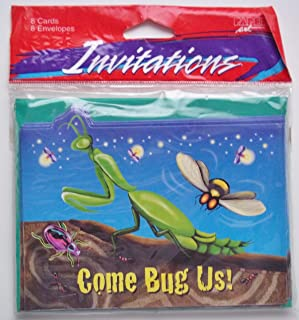 Come Bug Us Glitter Bug Party Invitations for Child