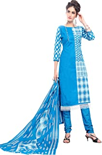 Minu salwar Cotton Printed Suit sets Blue(Pbeauty_6009_0)