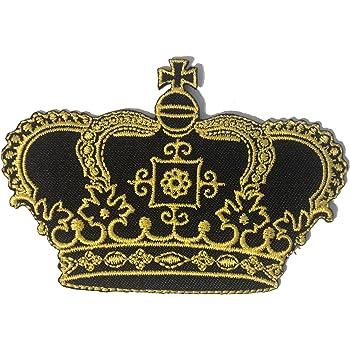 Parches - princesa reina corona - negro/oro - 8,3x7,3cm ...
