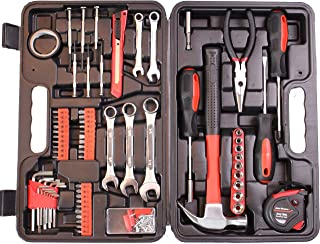 Cartman 148-Piece Tool Set – General Household Hand Tool Kit with Plastic Toolbox Storage Case