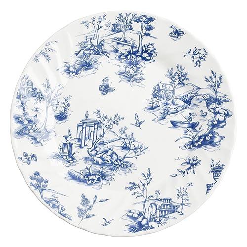 Churchill 4969111-Servizio da tavola 18 pezzi Toile Blue gamma colore Bianco 26.3 x 20.2 x 26.5 cm