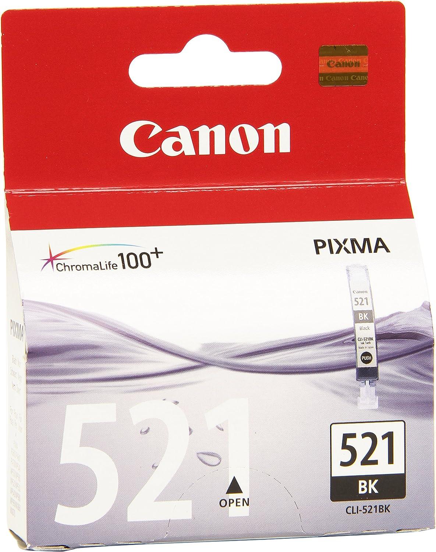 Canon Tintenpatrone Cli 521 Bk Schwarz 9 Ml Original Für Tintenstrahldrucker Bürobedarf Schreibwaren