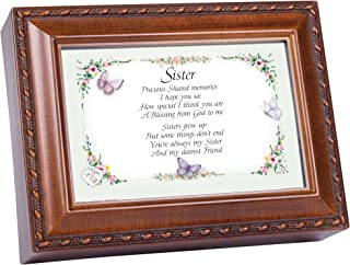 Cottage Garden Sister Together Always True Woodgrain Music Box Plays Friends are for