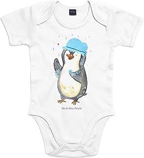 Mr. & Mrs. Panda Mr. & Mrs. Panda Strampler, Bodysuit, 18-24 Monate Baby Body Pinguin duscht - Farbe Transparent