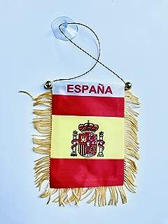 Espana Mini Flag Banner for Rearview Mirror RV Boat