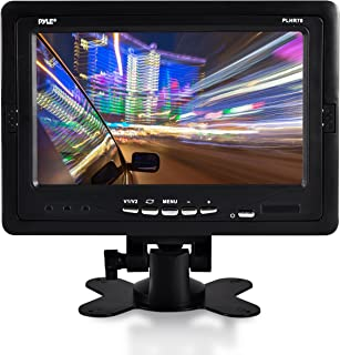 "Premium 7"" Inches Rearview Car LCD Monitor by Pyle – Parking Monitor Assistant with Wireless Remote Control – Full Color W..."