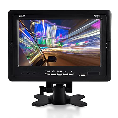 "premium 7"" inches rearview car lcd monitor by pyle – parking monitor  assistant with wireless"
