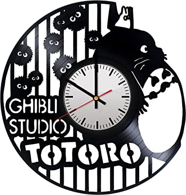 HOME ART DECOR Totoro Studio Ghibli Vinyl Record Wall Clock Unique Kids Room Nursury Home Decor