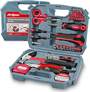 Hi-Spec 49 Piece Household DIY Hand Tool Kit Set. Everyday Repairs at Home & The Office with Practical Tools & Screwdriver...