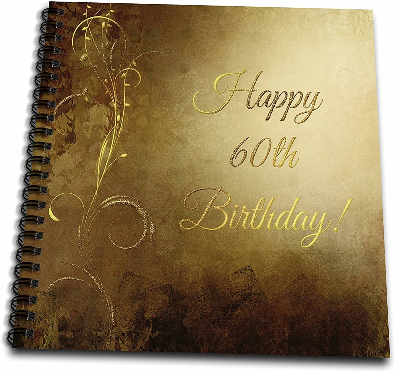 3dRosa zum 60. 60. 60. Geburtstag, elegantes Design, Goldfarben, mehrfarbig, 20,3 x 20,3 cm B01LYFXXZE | Moderner Modus  9b9a65