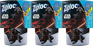 Ziploc Brand Container Twist n' Loc Featuring Star Wars Design, Medium, 32oz, 2ct, 3 Pack