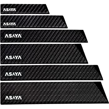 Professional Knife Edge Guards - 6 Piece Universal Blade Covers - Extra Strength, ABS Plastic and BPA-Free Felt Lining, non-Toxic and Food Safe - Knives Not Included