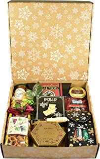 Gift Basket Village Ski Lodge Sampler, Gift Box with Winter Favorites - Brie Cheese Spread, Smoked Salmon, Georgia Pecans,...