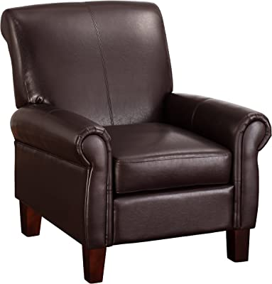 Amazon Com Baxton Studio Atticus Black Brown Faux Leather