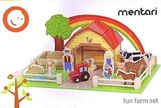 Playland Bauernhof inkl. Zubehör 70+ Teile, z. B. Bauernhaus